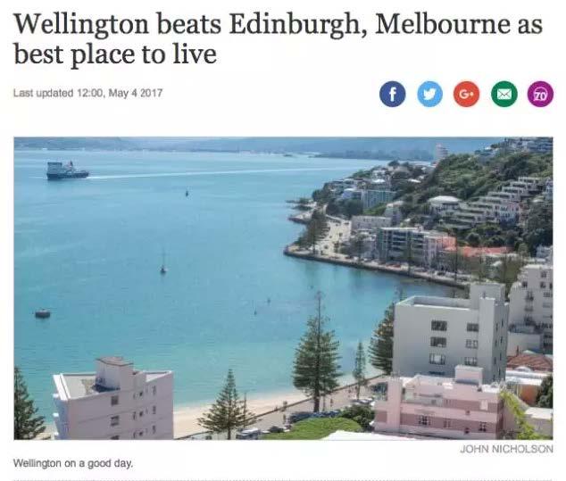 厉害了!全球最宜居城市这回又在新西兰!