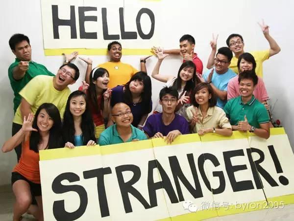 在新西兰,习惯和陌生人说话:)